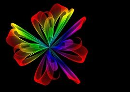 abstract iridescent waving flower