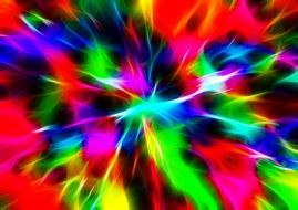 abstract explode of colors