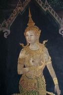 painting of a buddhist woman