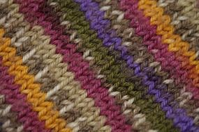 knitted striped fabric