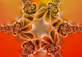 fractal symmetry abstract colorful pattern