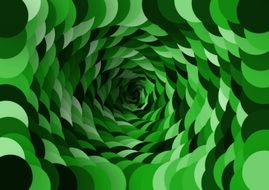 green color spiral abstract pattern