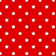 White stars on a red background