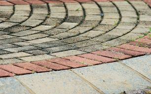 paving stones tiles curved curves