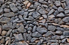texture with rough stones