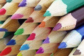 colorful colored pencils