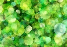 background with green bokeh bubbles