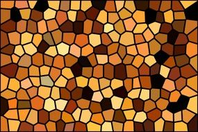 background with mosaic brown, white, black, color, yellow tiles