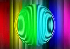 rainbow colors spectrum lines and ball creative digital art