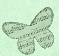 green background butterfly paper