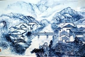 picture in the chinese porcelain