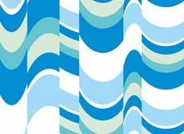 the background pattern blue and white waves