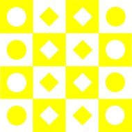 geometric yellow white background