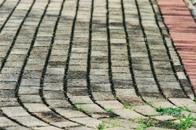 paving stones curved pavement