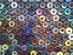 bottle caps design colorful vintage
