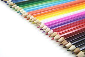 artistic bright rainbow color pencils