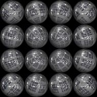 glossy balls with binary codes