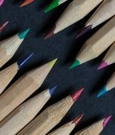 different colors of wooden pencils