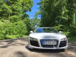 front view of sports car audi r8
