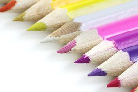 artistic bright colored pencils