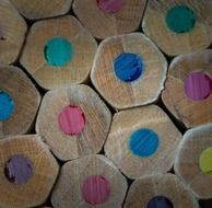 colored styluses in wooden pencils