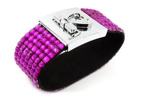 jewelry metal purple bracelet