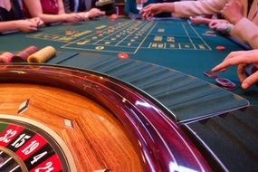 game bank use jeton place roulette wheel