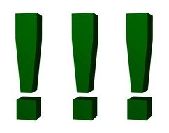 green exclamation point drawing