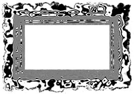 White background in black and white frame