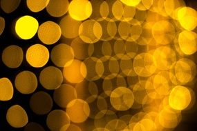bokeh circles of light magic effect background