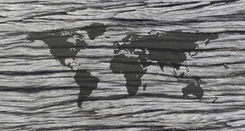 world map gray pattern