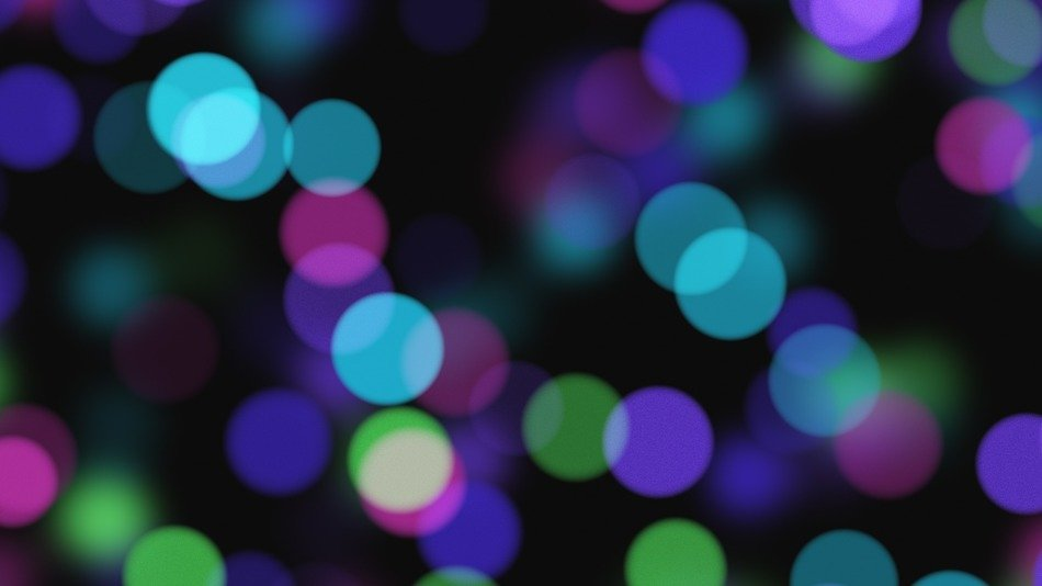 background blurred blue, purple and green lights