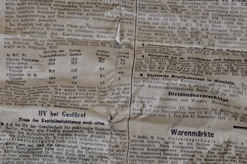 old antique newspaper texture