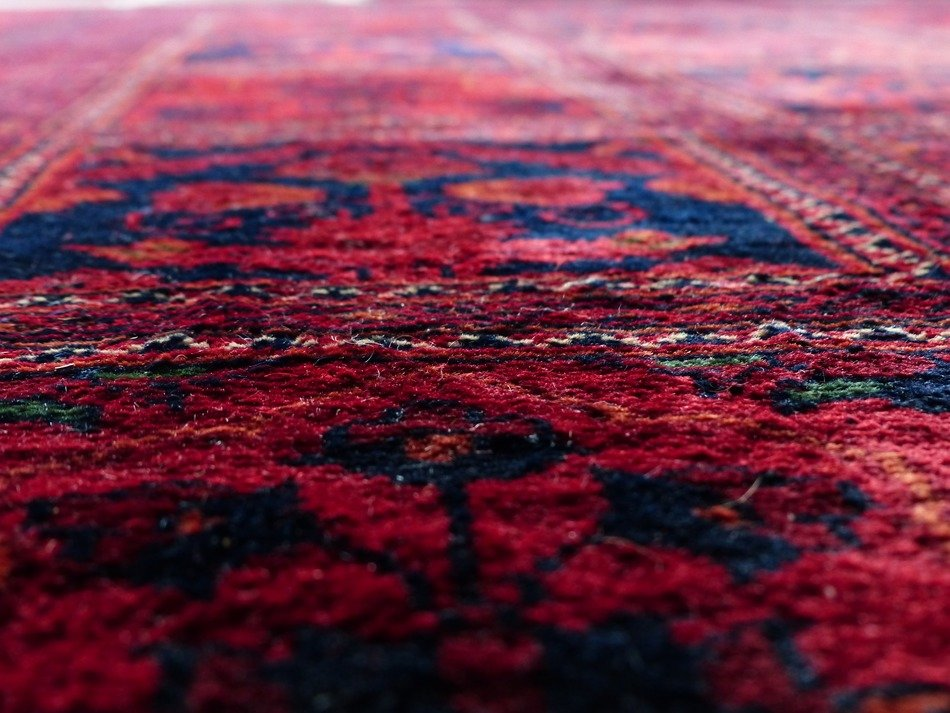 carpet red colorful wool