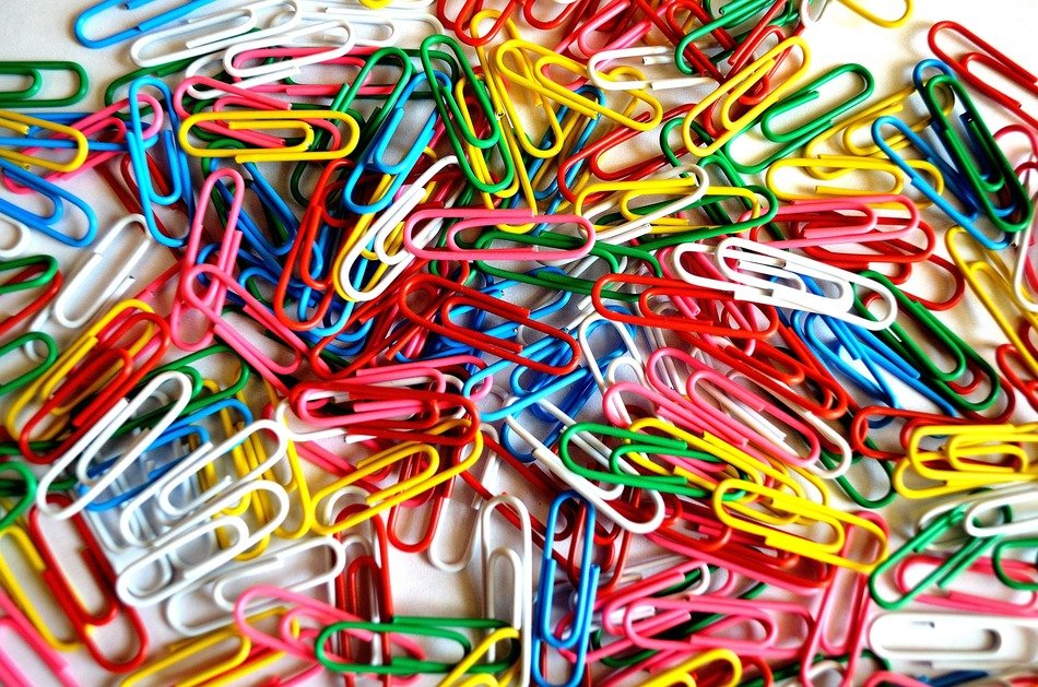 colorful paper clips background for documents