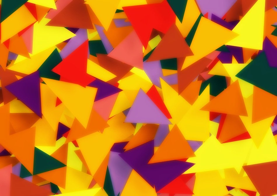 a lot of colorful triangles pattern