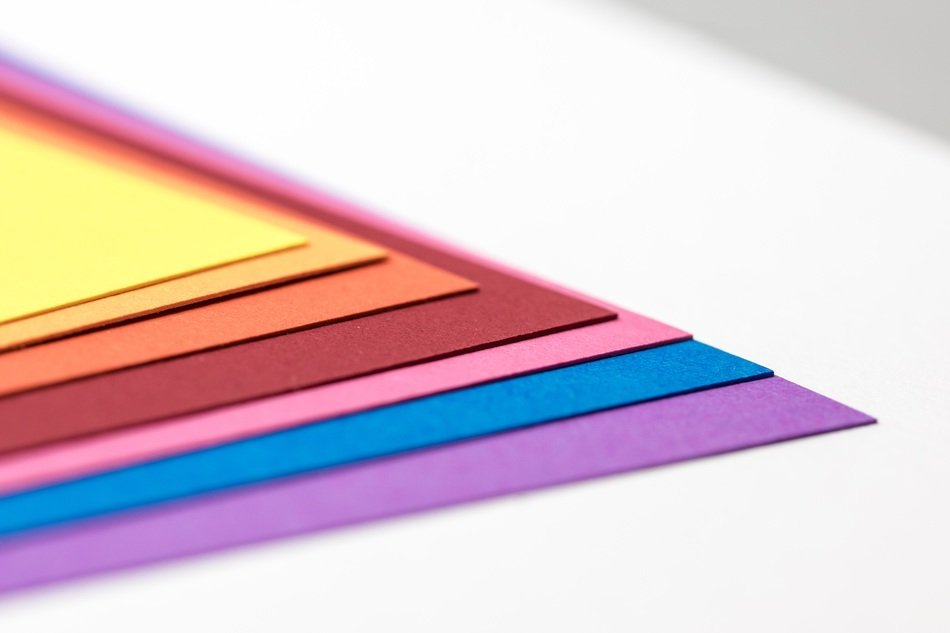 creative paper rainbow color