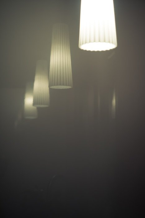 lamps mirror foggy atmosphere colourless