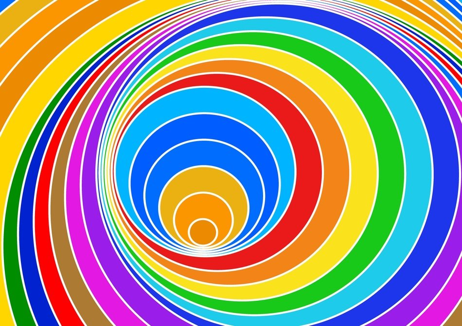 abstract pattern spiral eddy colorful vortex