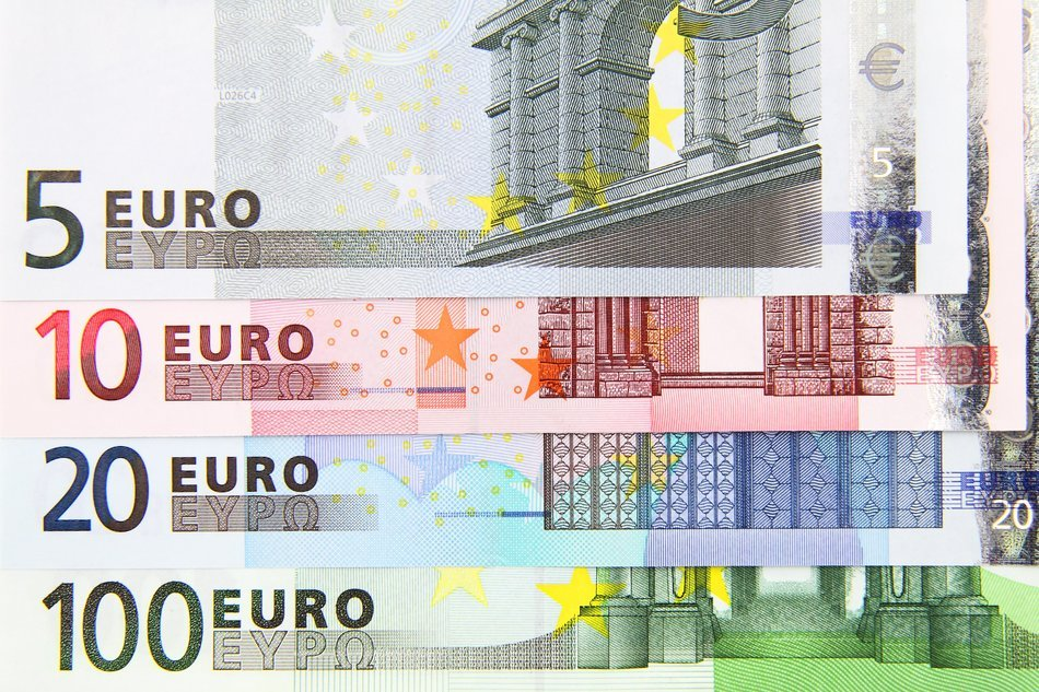 background euro banknotes bill european money