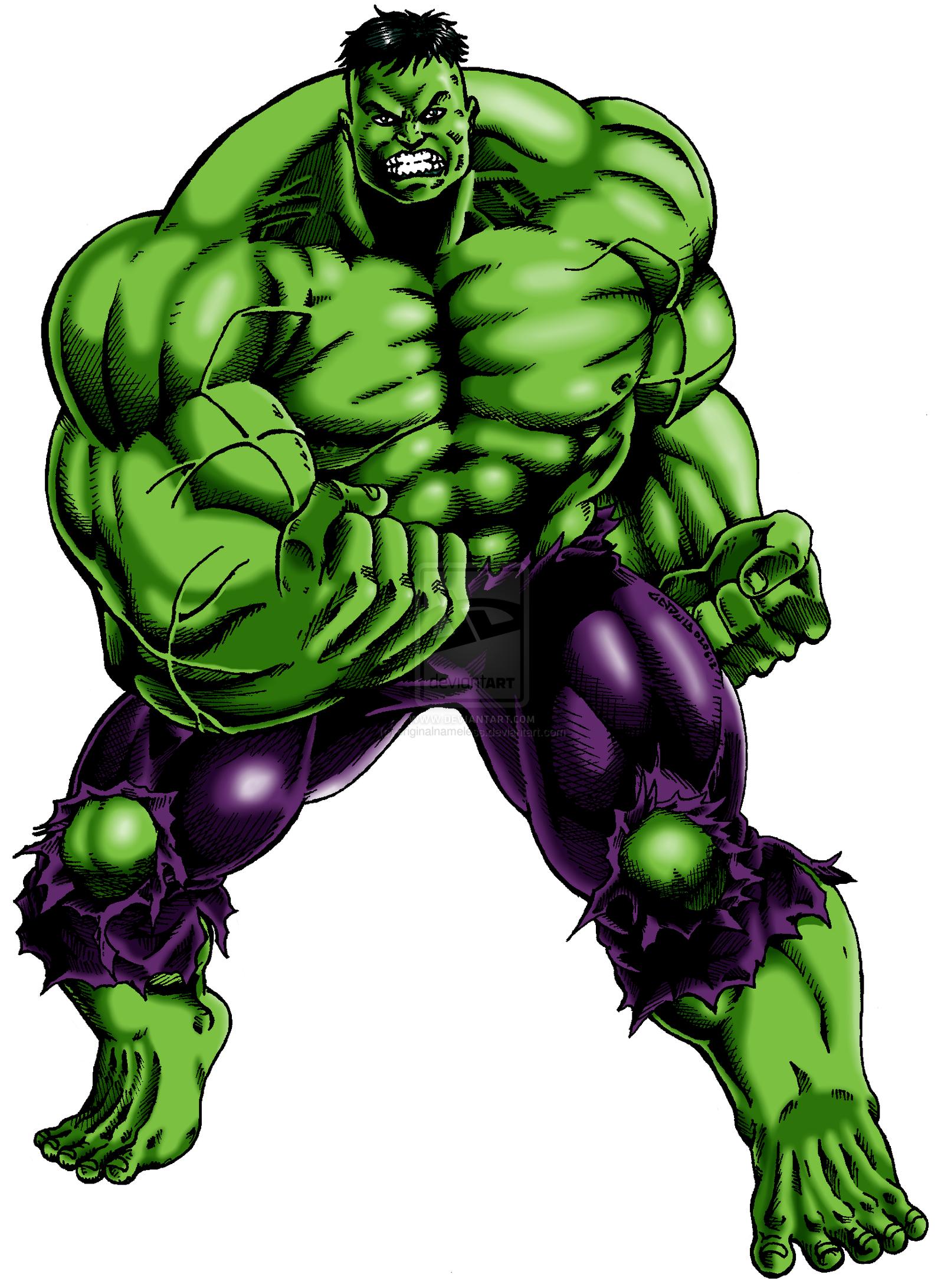 Incredible Hulk Cartoon drawing free image