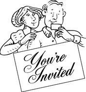 invitation to wedding, vintage drawing