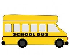 School Bus yellow drawing