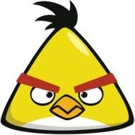 Angry Star Birds yellow drawing