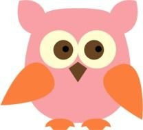 Colorful cute owl clipart