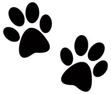 black Paw Print drawing