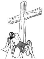 Jesus Cross Coloring Page drawing