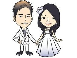 Funny Cartoon Wedding drawing