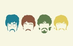 Beatles Silhouette drawing