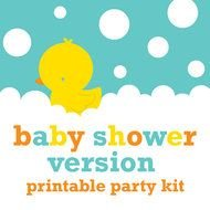 DIY Rubber Ducky Baby Shower Free Printables